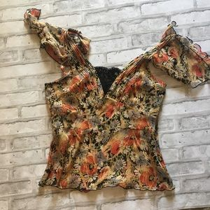 Free people silk blouse size 6